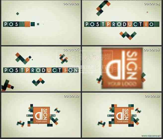 AE0136-像素块 标志展示logo演绎