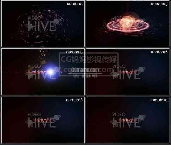AE0140-星河 标志展示片头