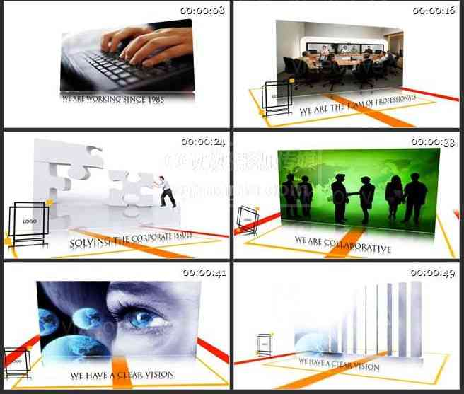 AE0173-白色简洁商业展示产品介绍 图文展示