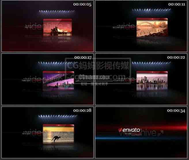 AE0209-闪光灯下 图文展示视频介绍