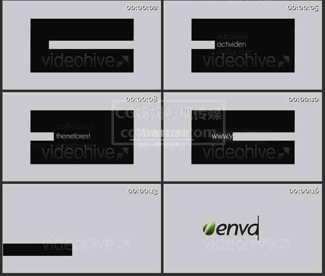AE0213-2-简约风格字幕 文本展示