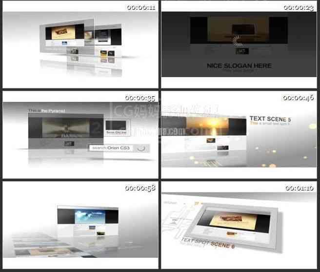 AE0214-商务简洁图文展示