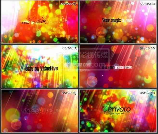 【AE模版】AE0275-色彩斑斓 的空间 文本展示片头
