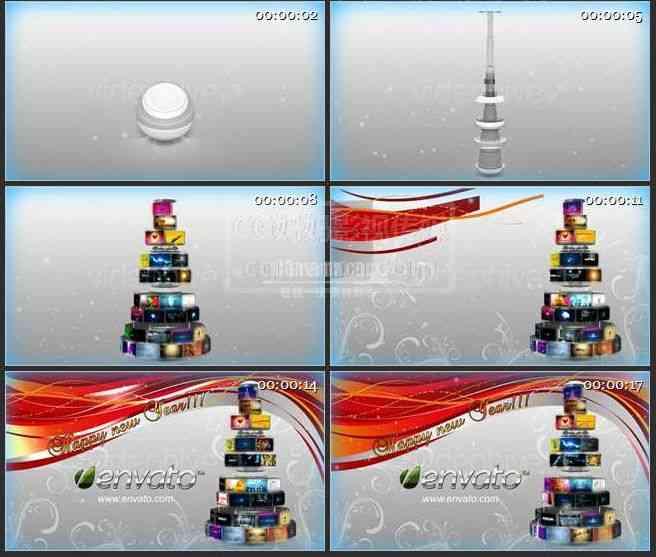 【AE模版】AE0302-新年快乐 图文展示