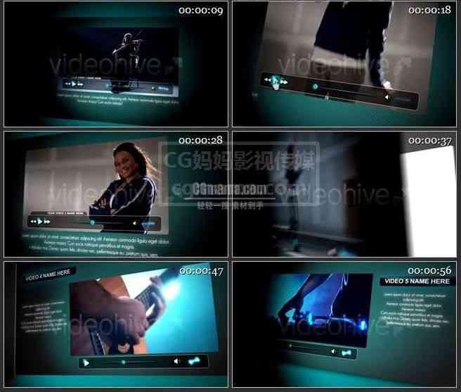 【AE模版】AE0318-专辑 图文视频展示