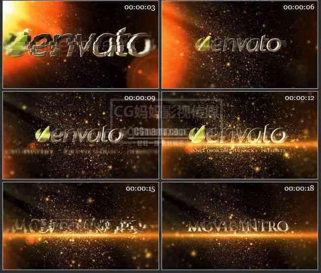 【AE模版】AE0322-金色粒子 LOGO展示片头