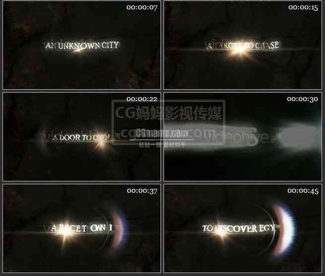 AE0362-柔和的光芒 文本展示