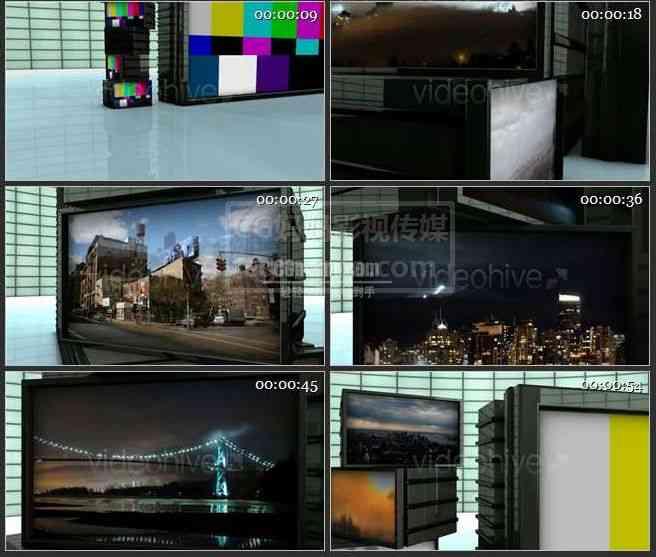 AE0400-堆叠的屏幕 图文视频展示