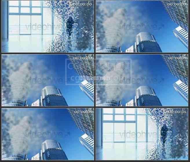 AE0414-城市楼宇 文本展示LOGO展示