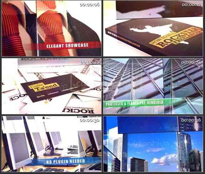 AE0455-商业演示 图文展示