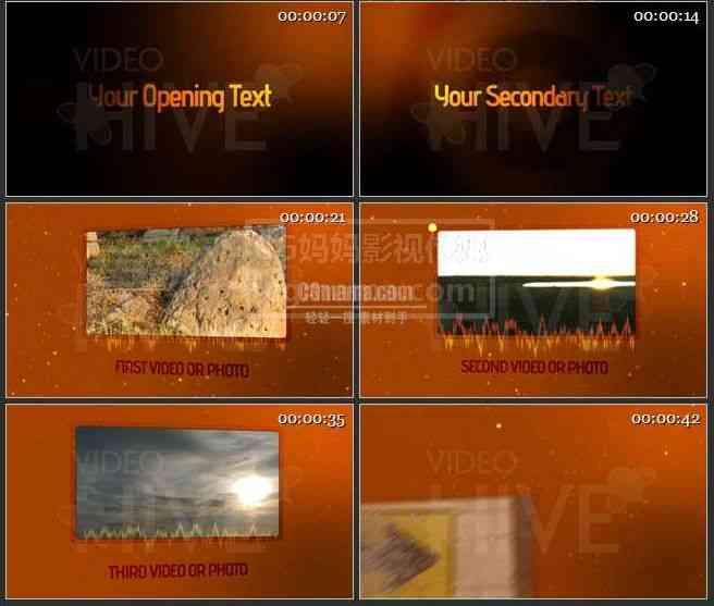 AE0513-橙色粒子特效 图文展示