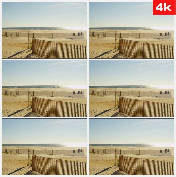 4K0077阳光明媚的海滨 高清实拍视频素材