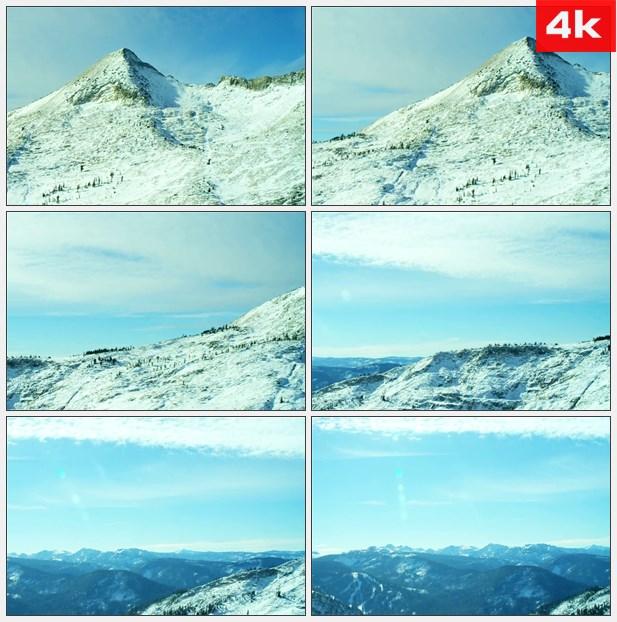 4K0091雪山远山自然美景高清实拍视频素材