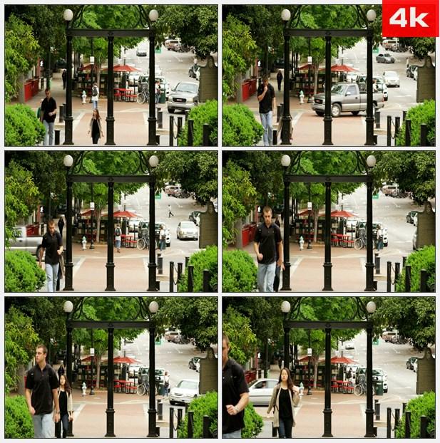4K0098学生走进大学校园     高清实拍视频素材