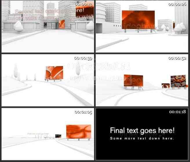 AE0527-城市广告牌 图文视频展示