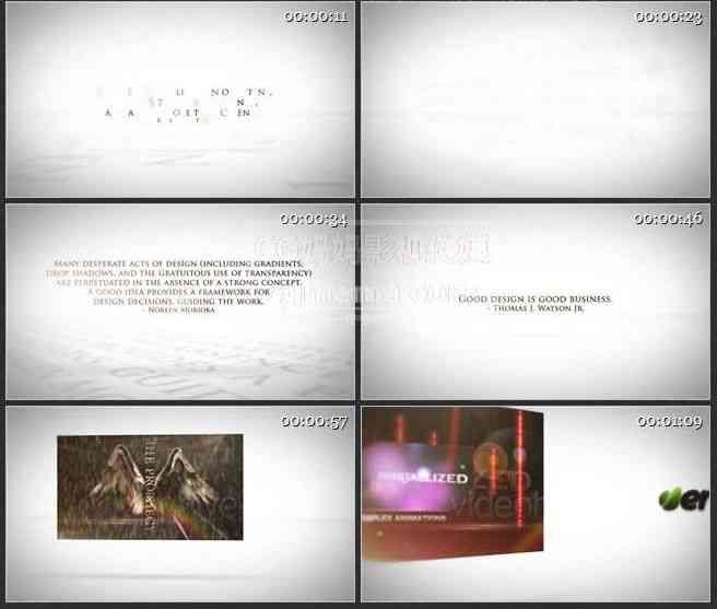 AE0566-白色空间 图文视频展示