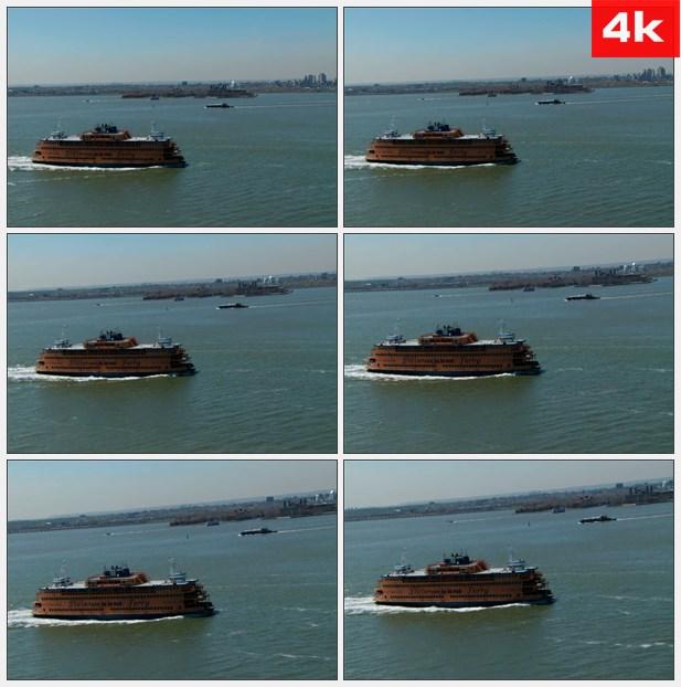 4K0168斯塔恩岛渡轮航行 高清实拍视频素材