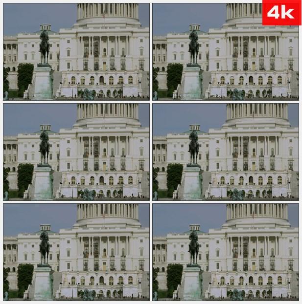 4K0181首都大厦的雕像 高清实拍视频素材