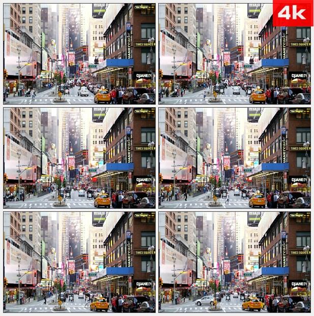 4K0183时代广场长焦距拍摄 高清实拍视频素材