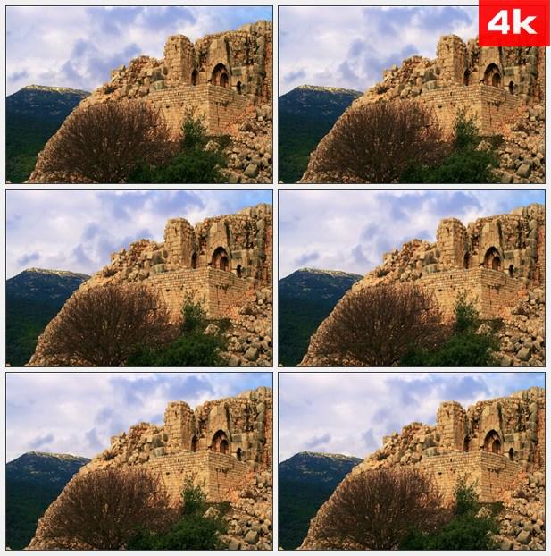 4K0188石器古建筑遗址 高清实拍视频素材