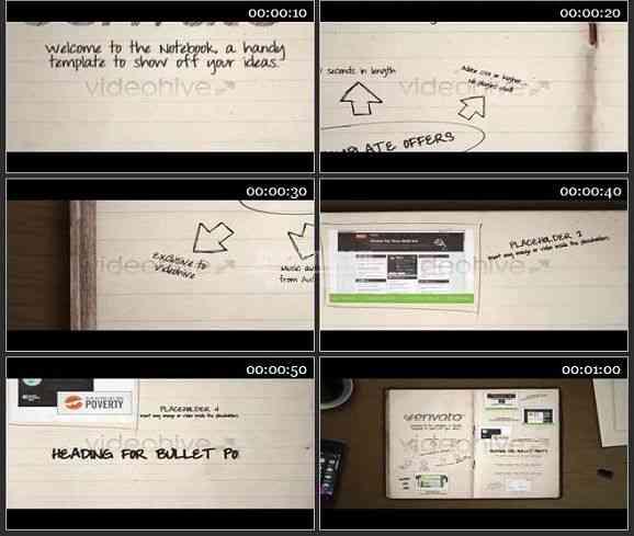 AE0578-笔记本手写体 图文展示