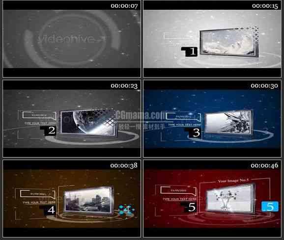 AE0602-3D粒子特效 图文展示