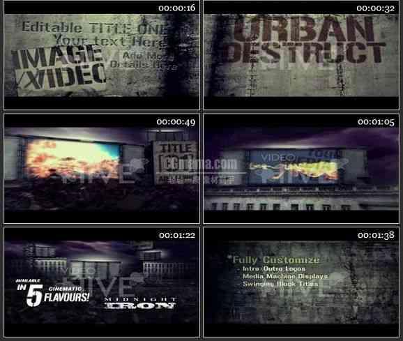 AE0619-城市废墟 图文视频展示