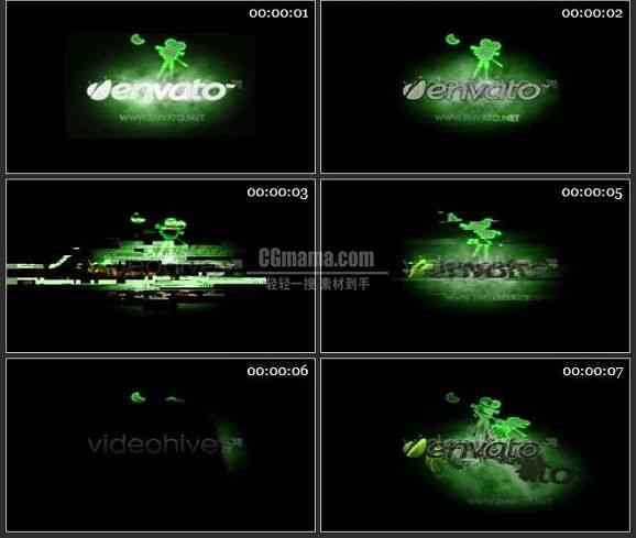 AE0639-干扰荧光绿 LOGO展示