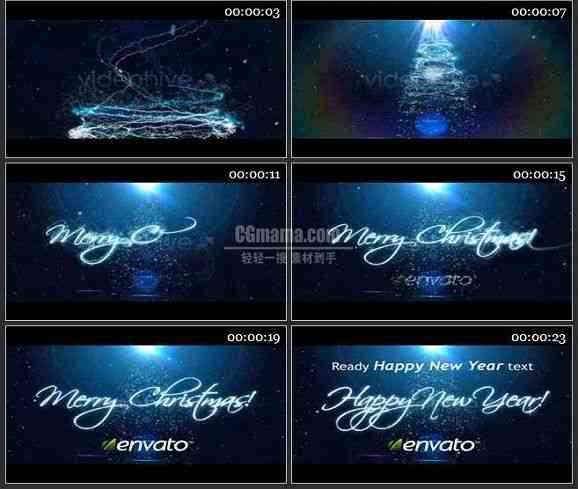 AE0652-绚丽圣诞雪景 文本展示