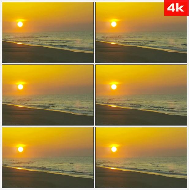 4K0232日落时清洁的海滩 高清实拍视频素材