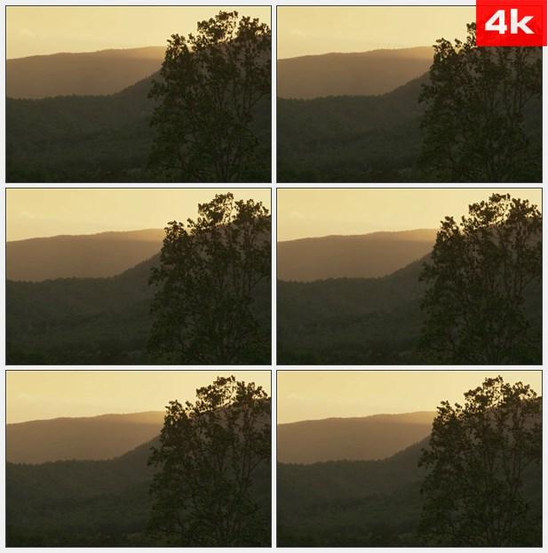 4K0234日落时的山景 高清实拍视频素材