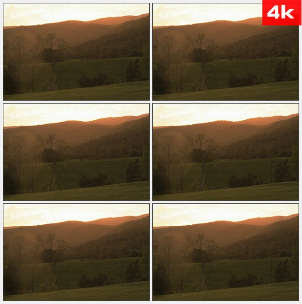 4K0235日落时的群山 高清实拍视频素材