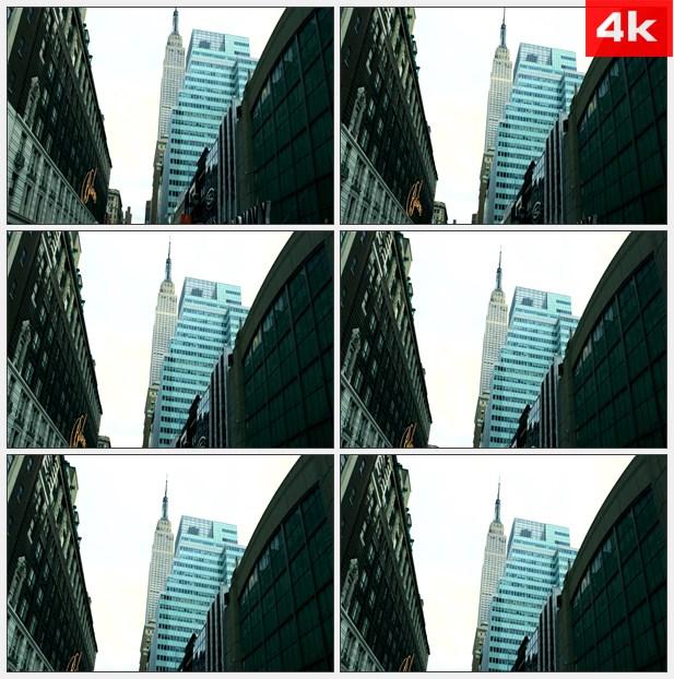 4K0279纽约市帝国大厦 高清实拍视频素材