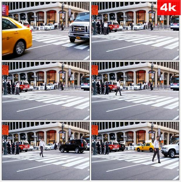 4K0280纽约街市一角 高清实拍视频素材
