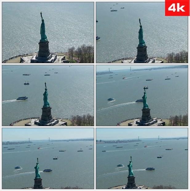 4K0282纽约的自由女神像2 高清实拍视频素材