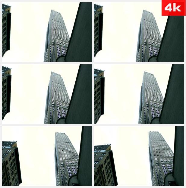 4K0306美国约克郡城市高楼大厦仰拍 高清实拍视频素材