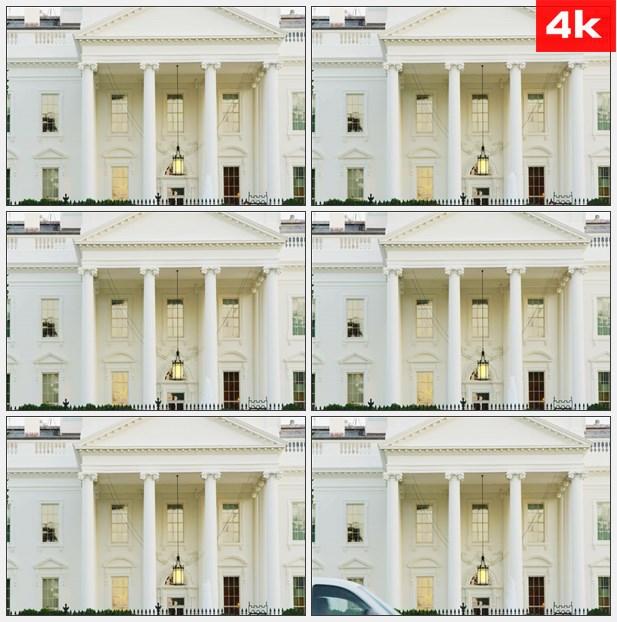 4K0329美国白宫正面 高清实拍视频素材
