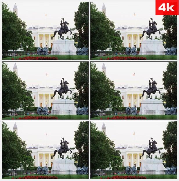 4K0331美国白宫广场 高清实拍视频素材