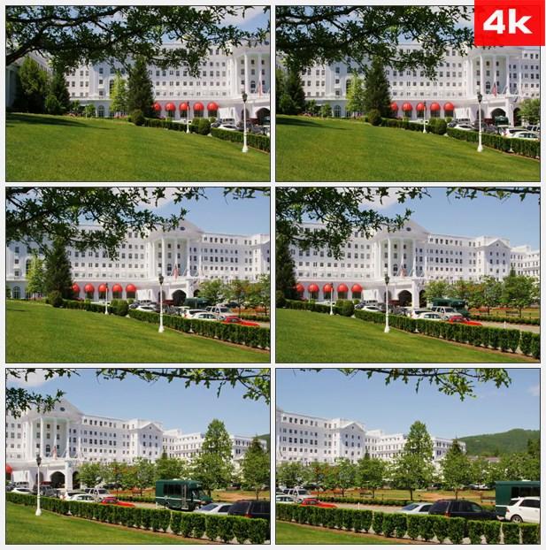 4K0344绿蔷薇酒店入口 高清实拍视频素材