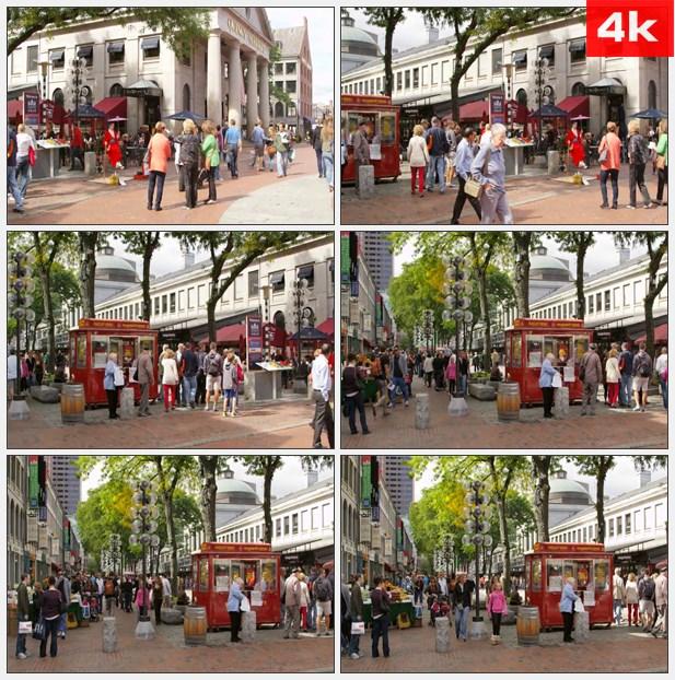 4K0346旅游购物在昆西市场 高清实拍视频素材