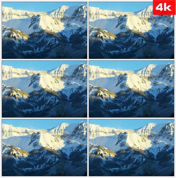 4K0366科罗拉多大雪覆盖群山 高清实拍视频素材