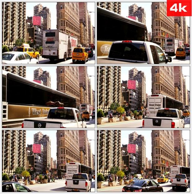 4K0387交通第五大道 高清实拍视频素材
