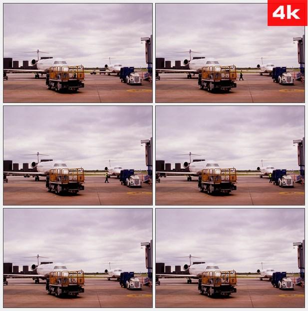 4K0401机场飞机检修维护工作 高清实拍视频素材