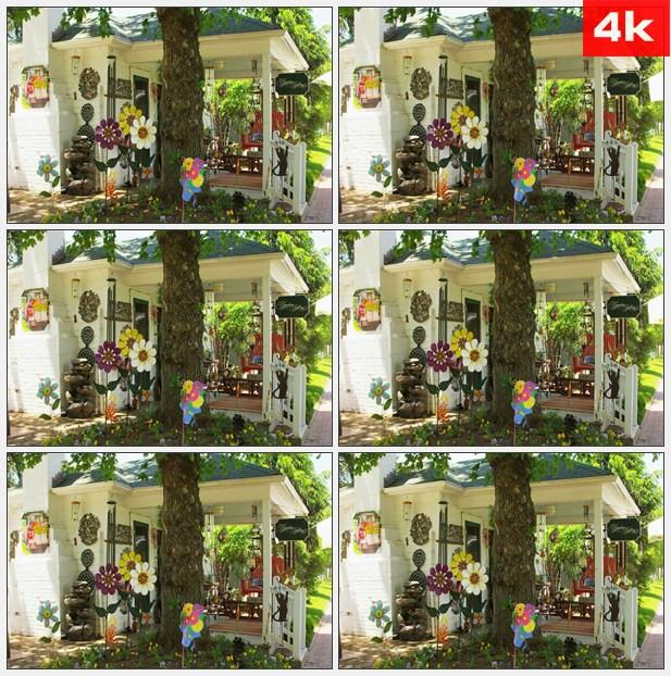 4K0424画廊酒店花园店 高清实拍视频素材