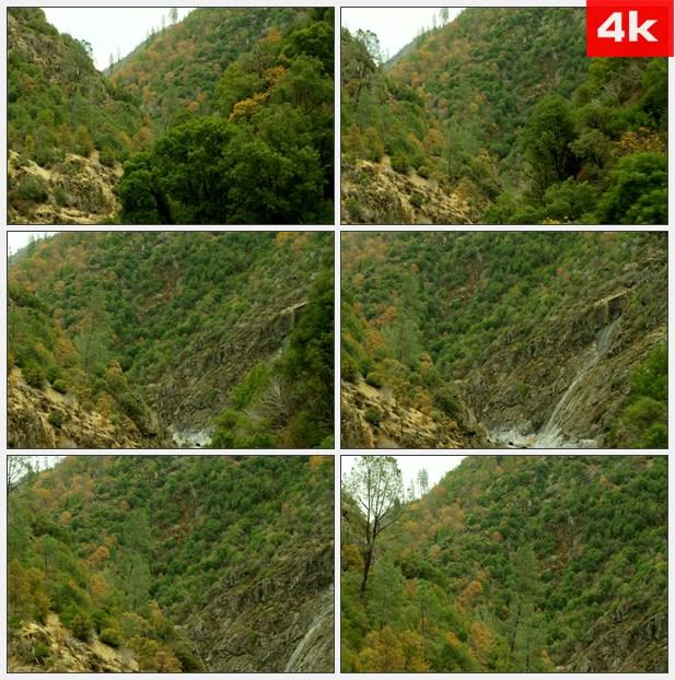 4K0461航拍山谷 高清实拍视频素材