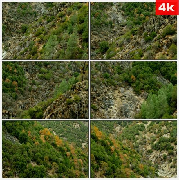 4K0463航拍群山 山谷 高清实拍视频素材