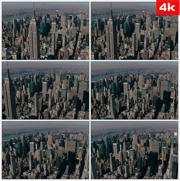 4K0466航拍美国帝国大厦 高清实拍视频素材