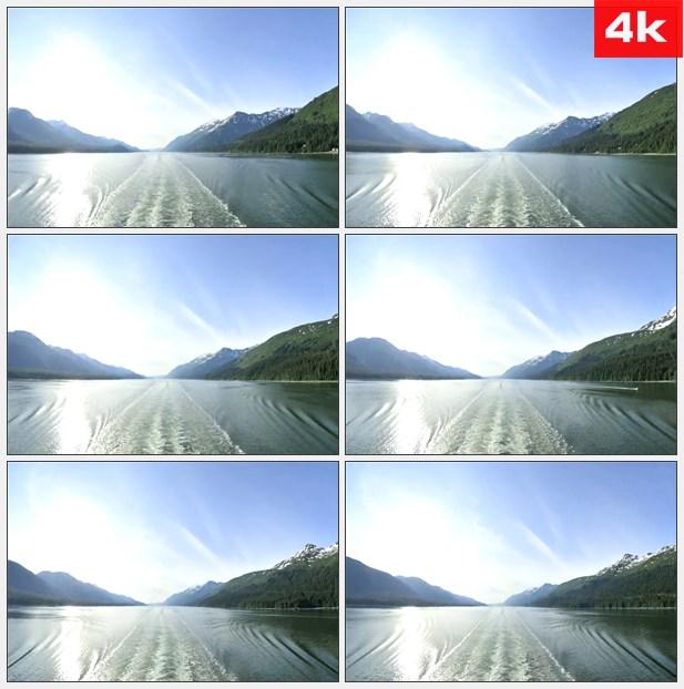 4K0471航海航道水波纹大海 高清实拍视频素材