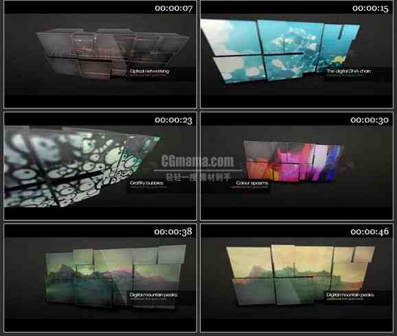 AE0755-组合屏幕 视频展示