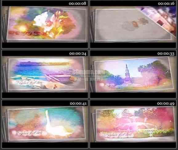 AE0758-晕染的色彩 视频相册